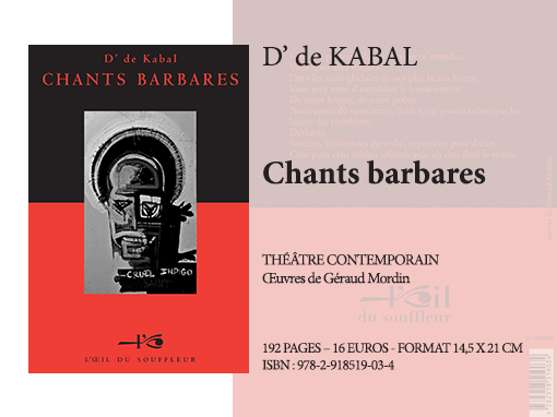 Chants barbares | D' de Kabal - Collection Théâtre