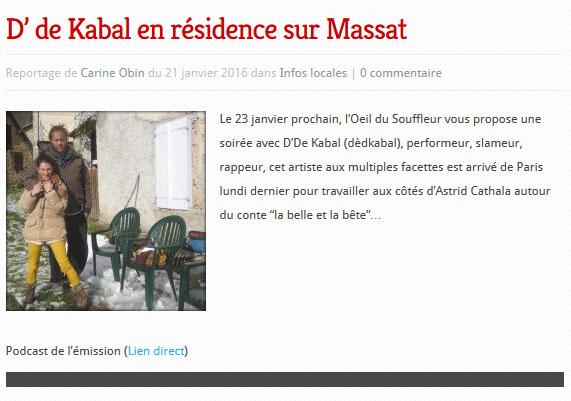 Reportage L'Œil du souffleur sur RDC