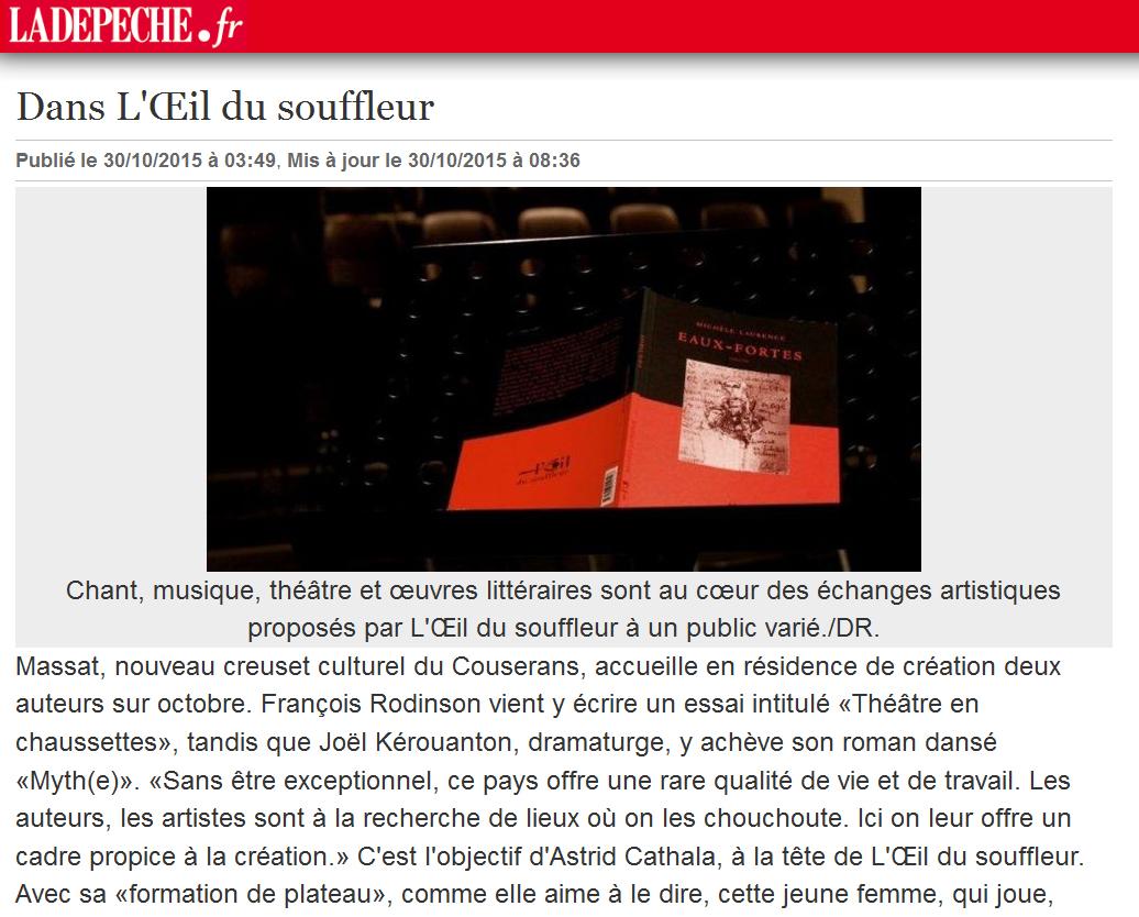 La Dépêche - Octobre 2015
