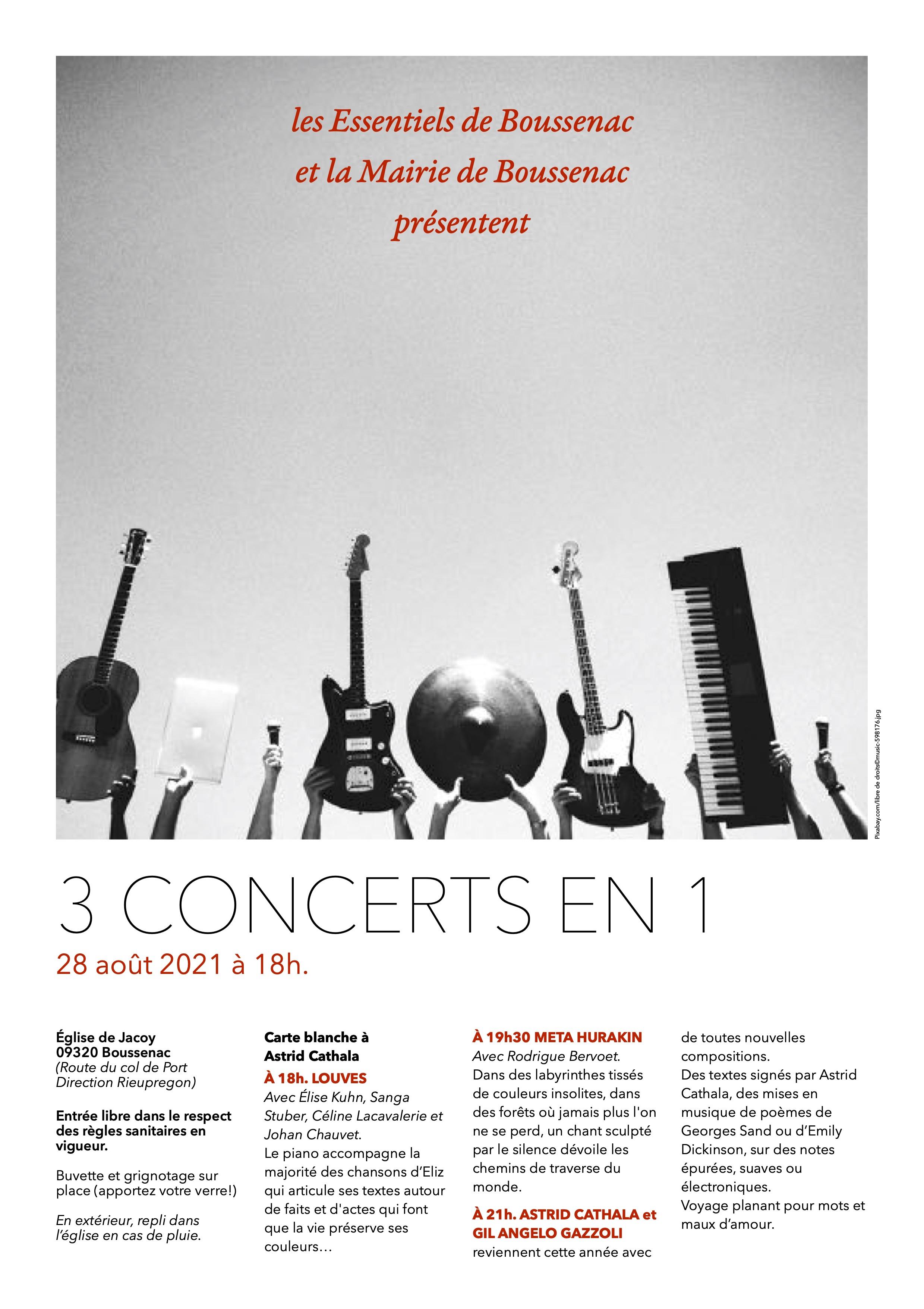 Affiche Boussenac Concerts 28